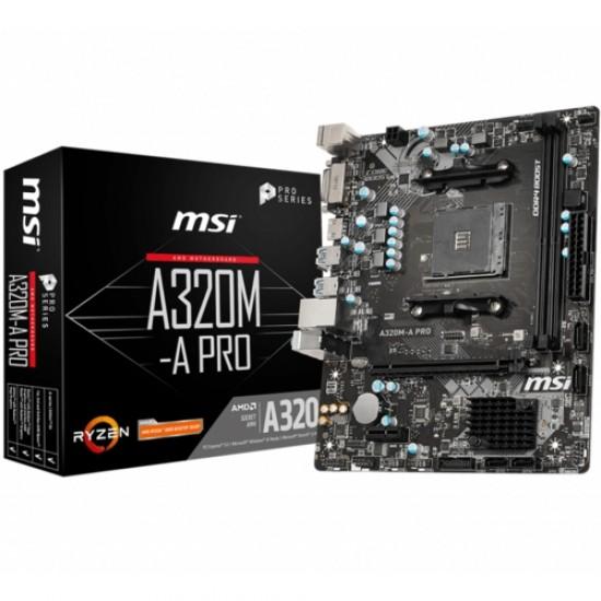 MSI A320M-A PRO DDR4 S+V+GL AM4 (mATX)