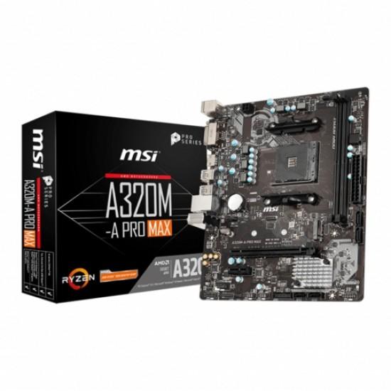 MSI A320M-A PRO MAX DDR4 S+V+GL AM4 (mATX)