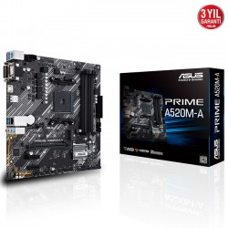 Asus PRIME A520M-A AMD AM4 DDR4 Micro ATX Anakart
